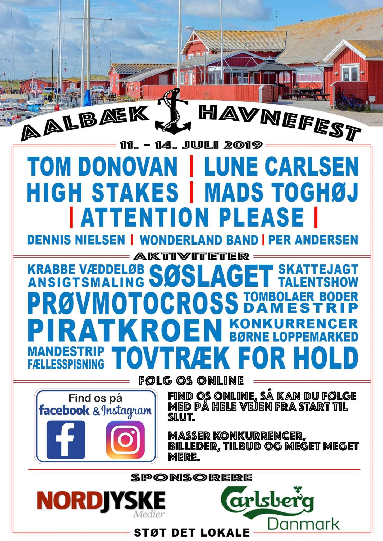 Programmet til havnefesten 2019