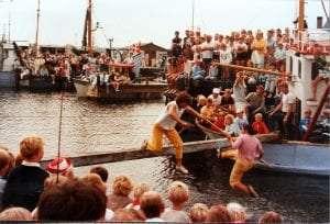 Søslaget i de gamle dage med Svend bradt som vinner
