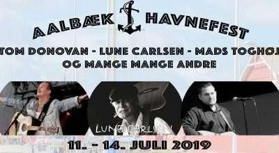 Artister til havnefesten 2019 i Aalbæk